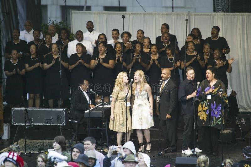 Evangelium-Chor stockbild