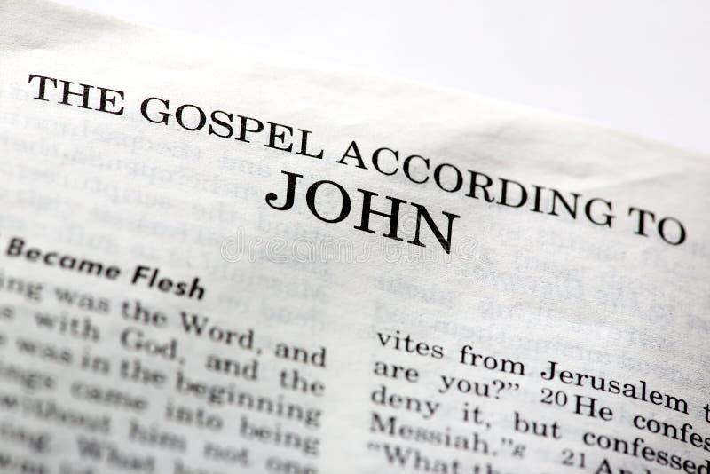 Evangelium von John stockfoto