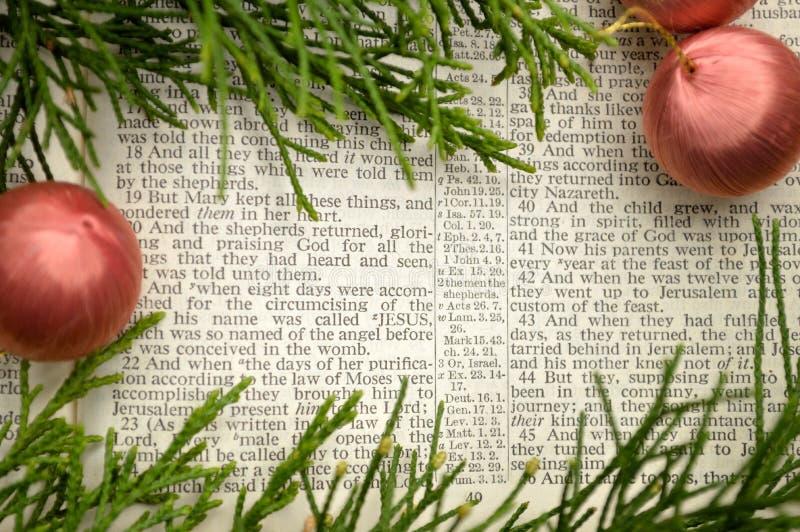Evangelium von Luke, Weihnachtsgeschichte stockfotografie