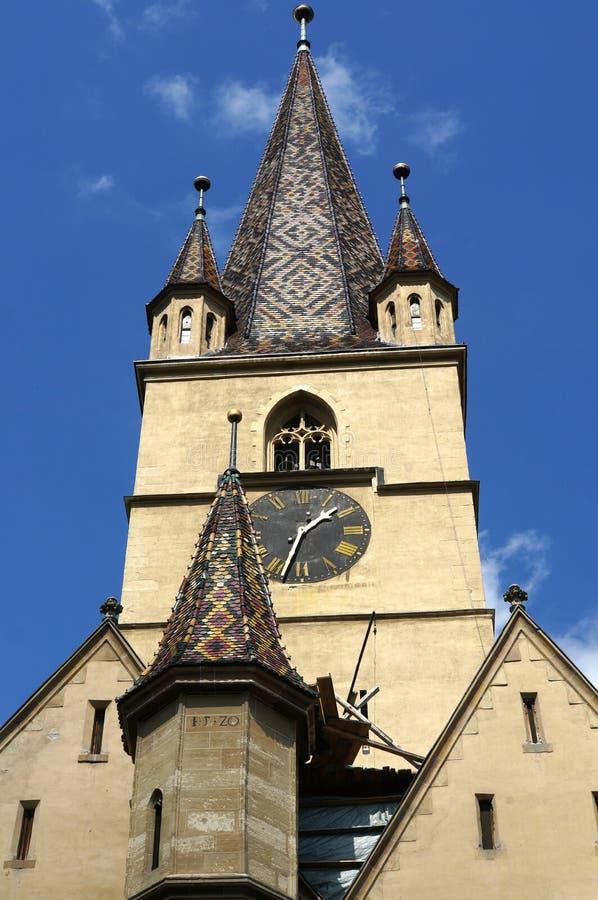 Evanghelical Kościelny Sibiu Rumunia fotografia stock
