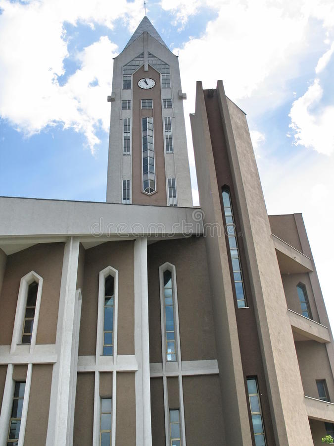 Evanghelical Kościelny Sibiu Rumunia - szczegół obrazy royalty free