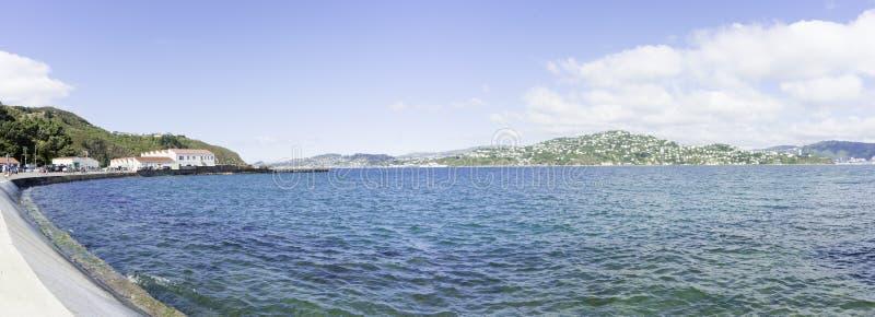 Evans Bay von Shelly Strand Straße Wellington lizenzfreies stockfoto