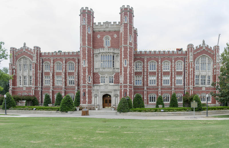 Evans Hall bij de Universiteit van Oklahoma royalty-vrije stock foto