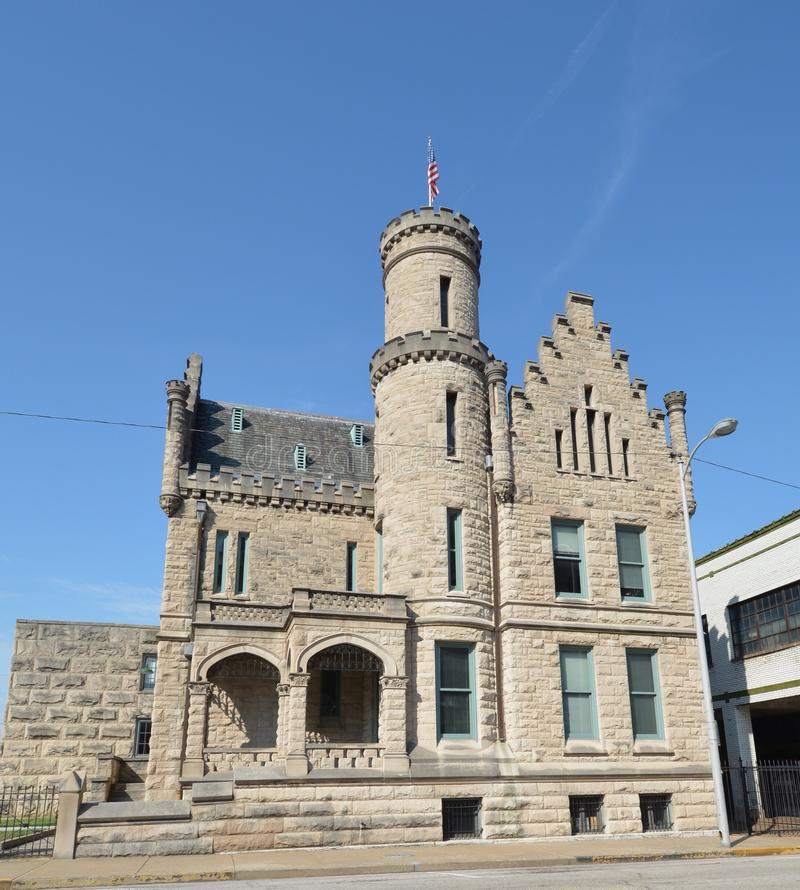 Evansville-Gefängnis lizenzfreie stockfotos