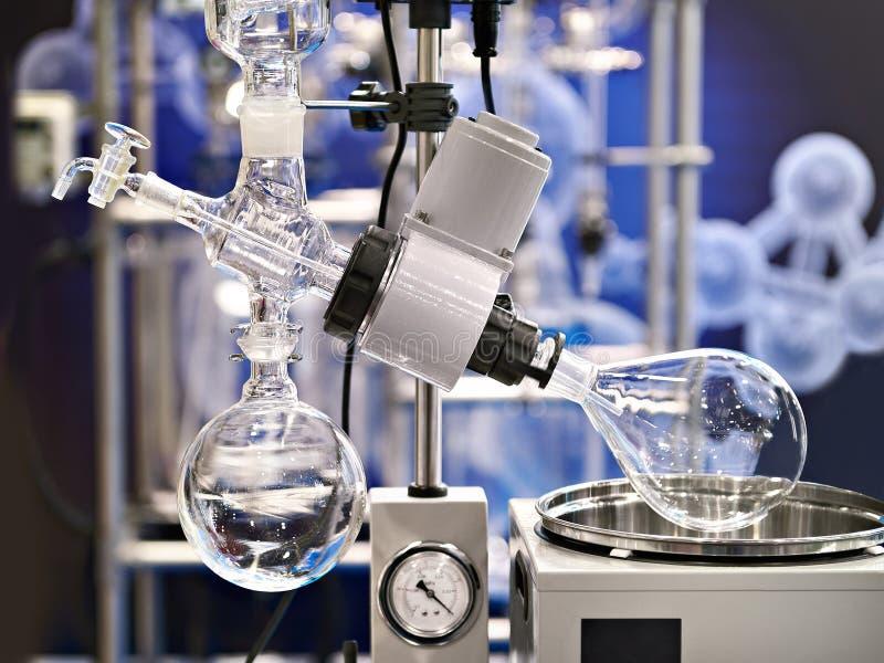 Evaporador rotatorio del laboratorio para la química imagen de archivo