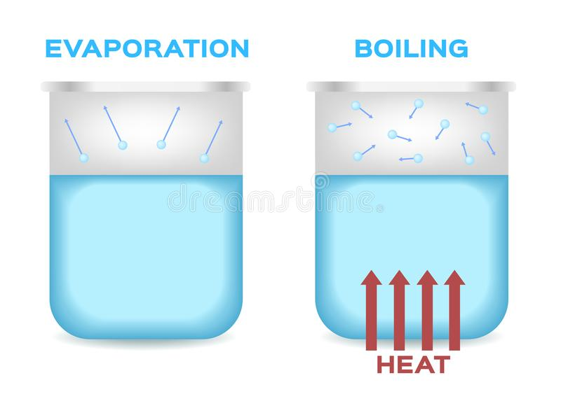 Evaporation And Boiling Point Of Water . Vector Stock ...