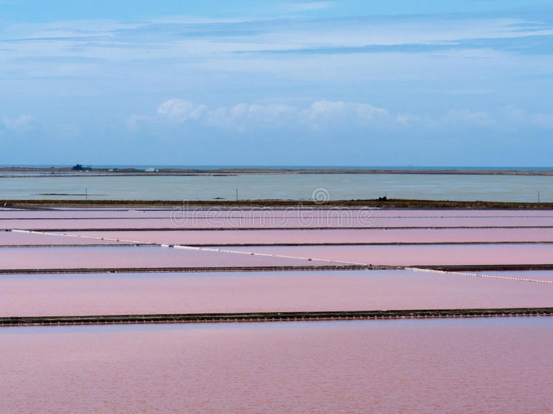 Download Evaporation Ponds Of Saline Refinery Saltworks Stock Photo - Image of distant, cloudy: 24975370