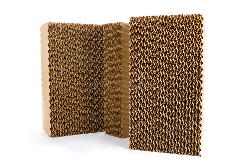 Evaporative Cooling pads royalty free stock photos