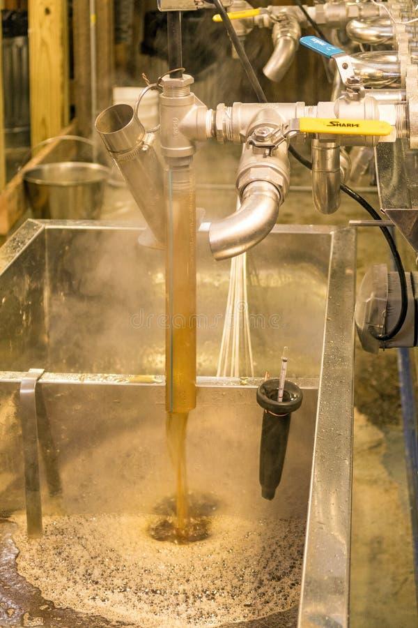 Evaporatore dello sciroppo d'acero immagini stock