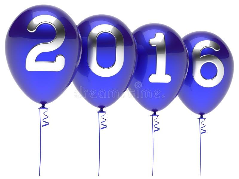 Eve 2016 воздушных шаров wintertime Новые Годы украшения партии иллюстрация штока