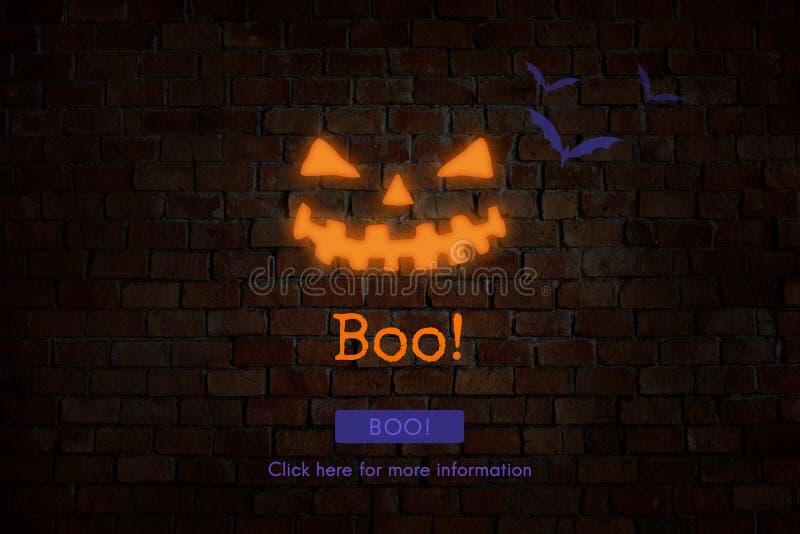 Eve Boo Halloween Icon Concept de tout le saint image libre de droits