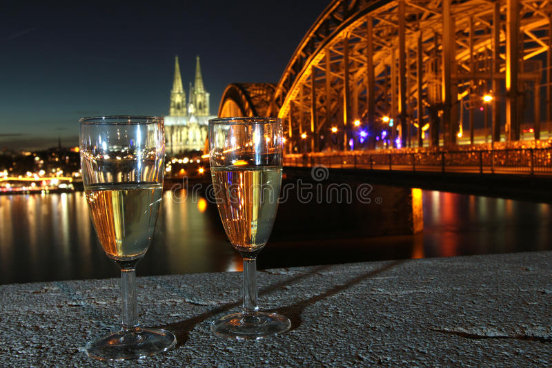 Eve Cologne Germany van het nieuwjaar royalty-vrije stock foto's