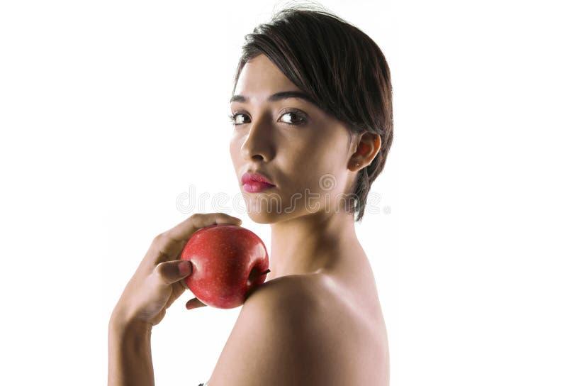 EVE con la mela verde fotografia stock