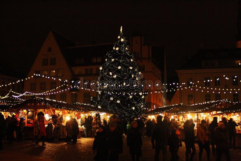 ` EVE del nuovo anno a Tallinn fotografia stock