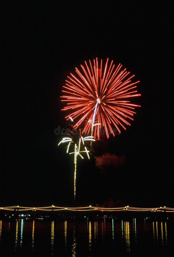 Eve Firework Display de nouvelle année en Arizona photos stock