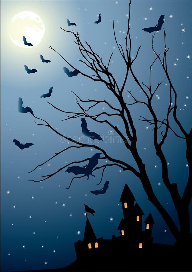 Eve of halloween vector illustration