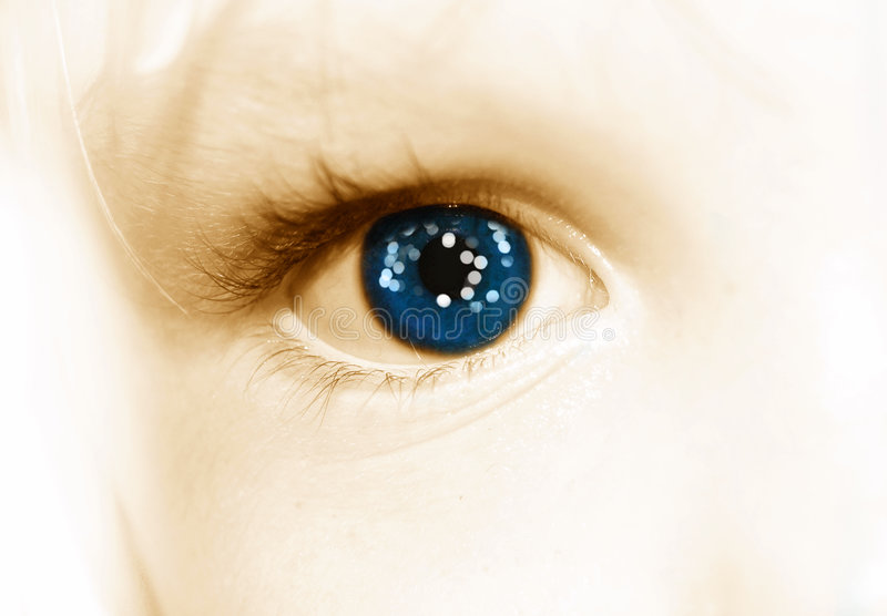Eve's eye stock photography