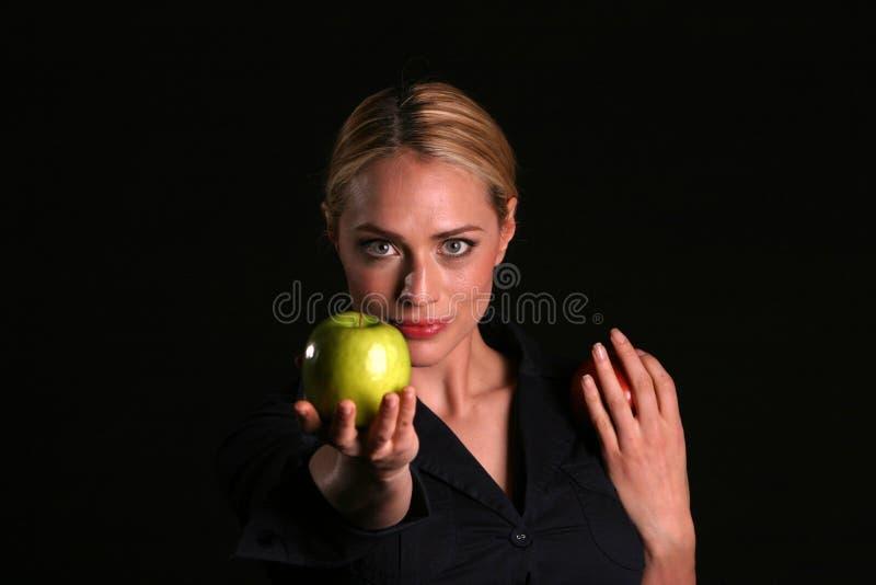 Eve te remet un Apple images libres de droits