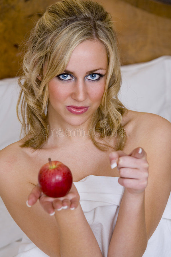Download Eve of Temptation stock photo. Image of face, erotic, naked - 1961984