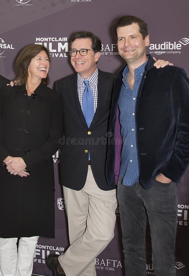 Evelyn Colbert, Stephen Colbert et Luke Parker Bowles photographie stock libre de droits