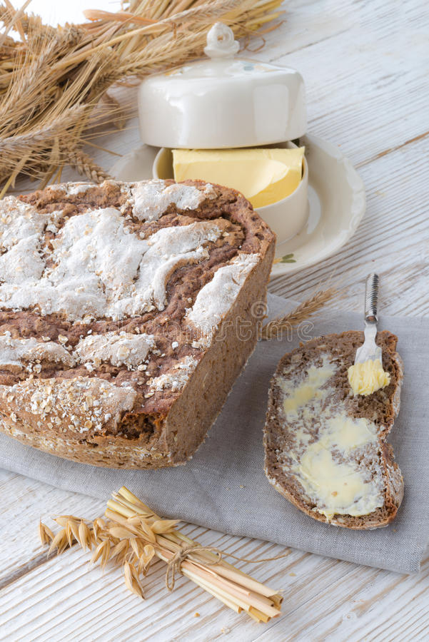 Even baked bread. A fresh and tasty Even baked bread stock images