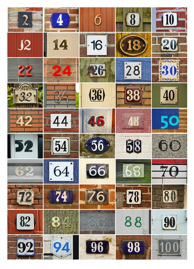 Download Even House Numbers Stock Photography - Image: 19418352