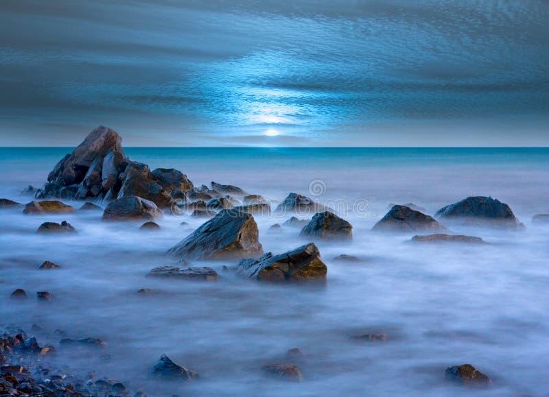 Evenig auf Meer stockbild