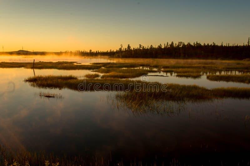 Evening湖 图库摄影