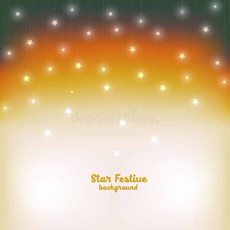 Evening świątecznego gwiazdowego tło również zwrócić corel ilustracji wektora obraz stock