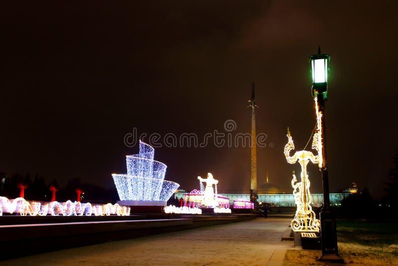Evening świątecznego oświetlenie obrazy royalty free