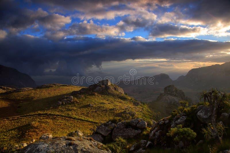 Evening światło w Mulaje górach zdjęcia stock