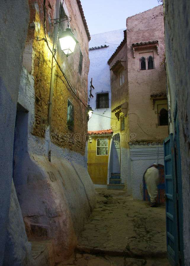 Evening in the alleyway royalty free stock photos