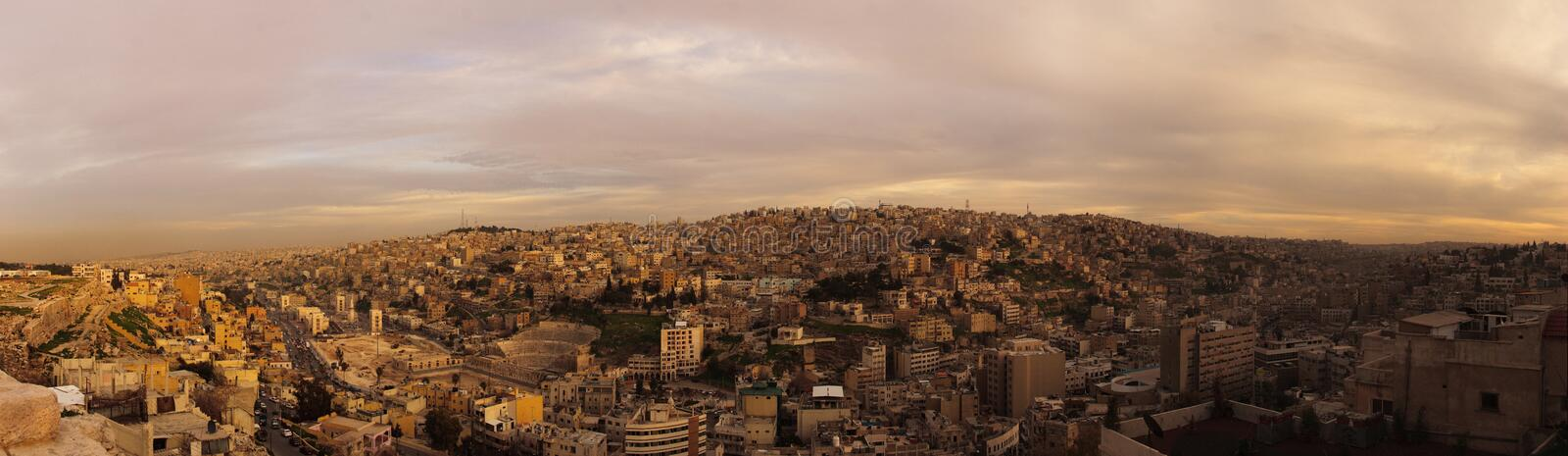 Download Evening in Amman stock photo. Image of grass, hill, jordan - 13077764