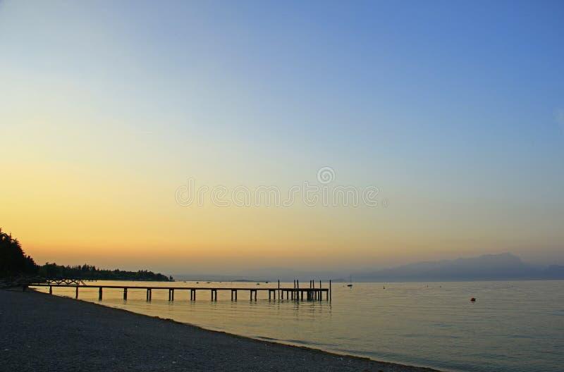 Download Evening Atmosphere At Lake Garda Italy Stock Image - Image: 26793147