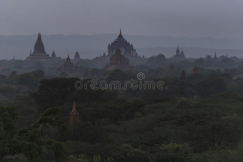 Evening of Bagan, Mandalay, Myanmar. Bagan is an ancient city located in the Mandalay Region of Myanmar. From the 9th to 13th centuries, the city was the capital royalty free stock photography
