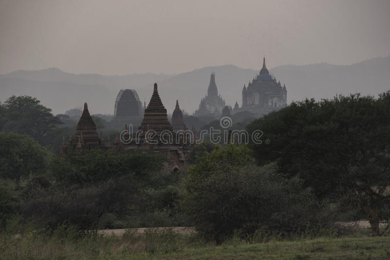 Evening in Bagan, Mandalay, Myanmar. Bagan is an ancient city located in the Mandalay Region of Myanmar. From the 9th to 13th centuries, the city was the capital stock photography