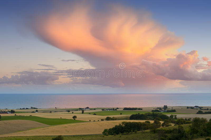 Evening at the Baltic Sea royalty free stock image