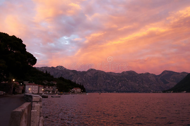 Download Evening In The Bay Of Kotor Royalty Free Stock Photos - Image: 27976078