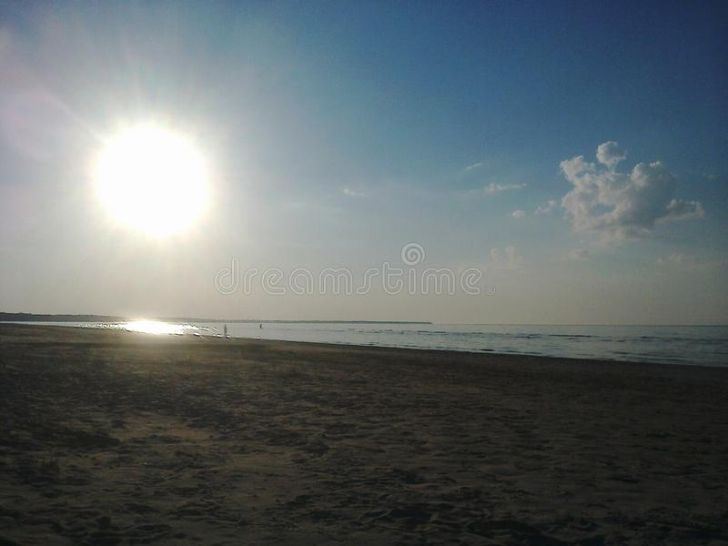 Evening at the beach royalty free stock photography