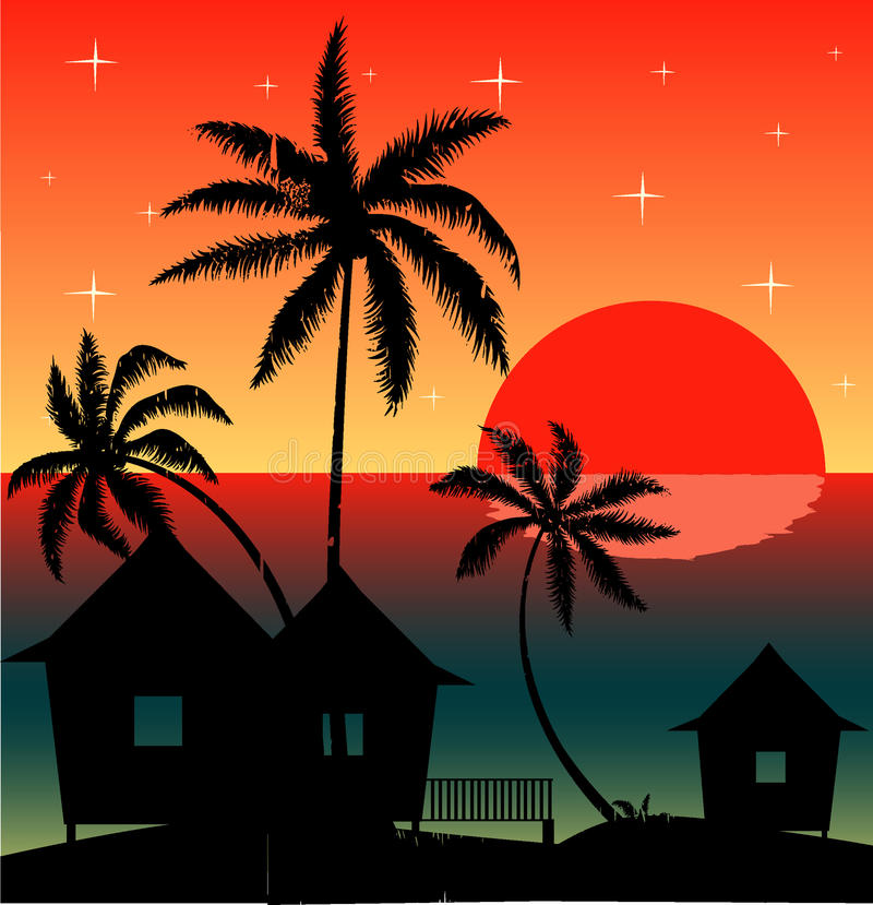 Evening on the beach stock image