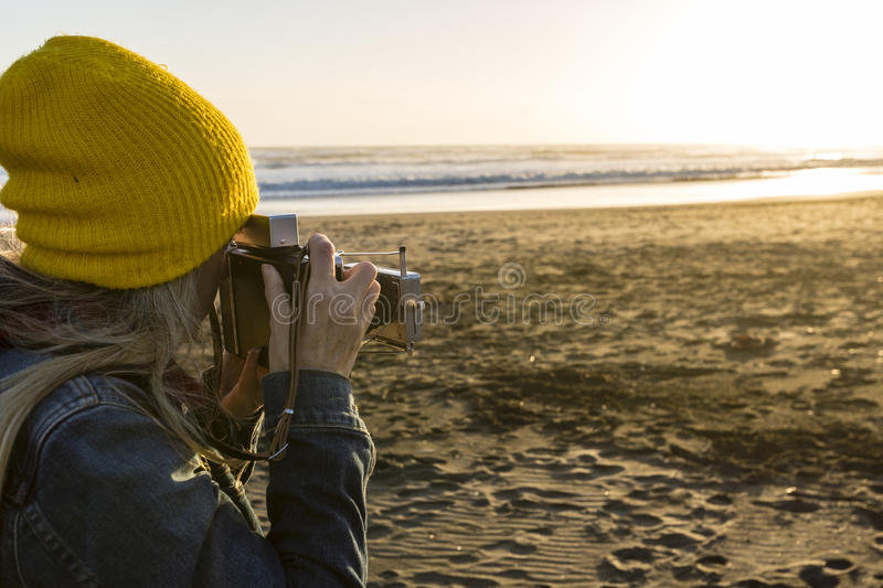 Evening Beach Photos stock photography