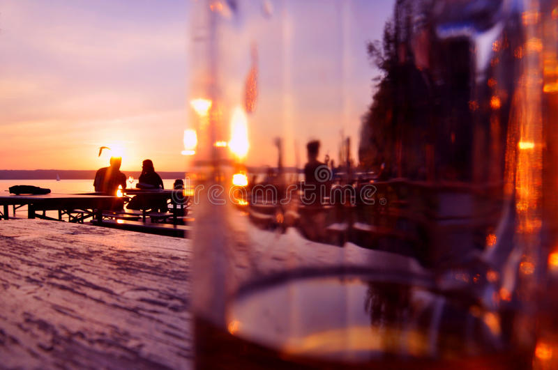 Download Evening In A Beergarden Stock Photos - Image: 16659563