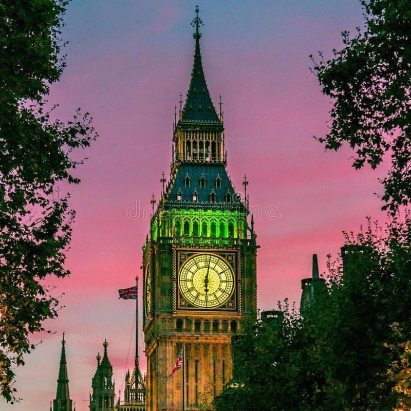 Evening Big Ben tower royalty free stock photography