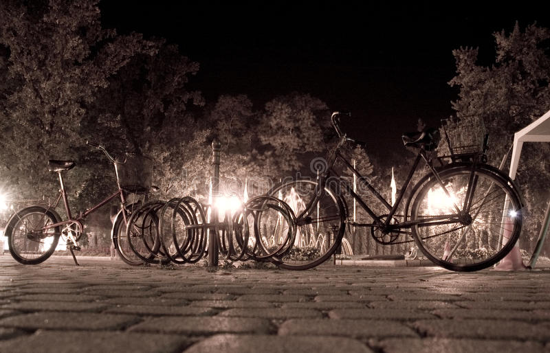 Evening with bike