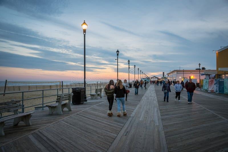 Evening Boardwalk stock photos