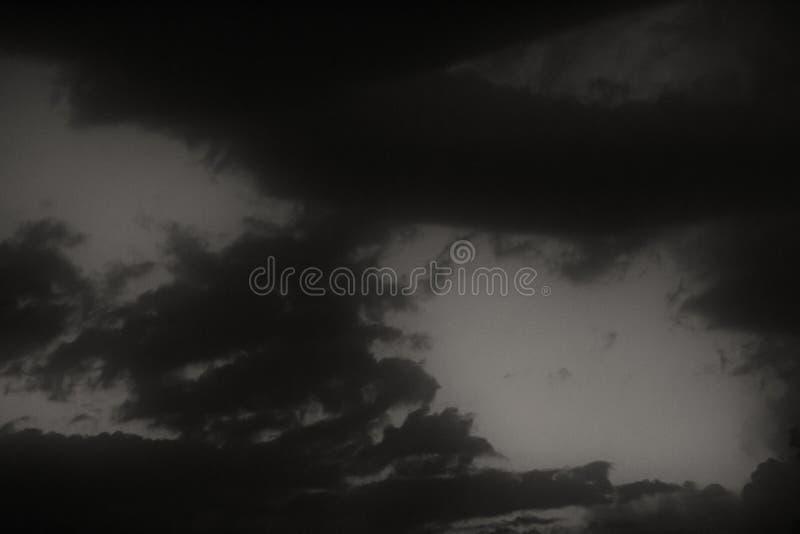Evening burzy niebo fotografia stock