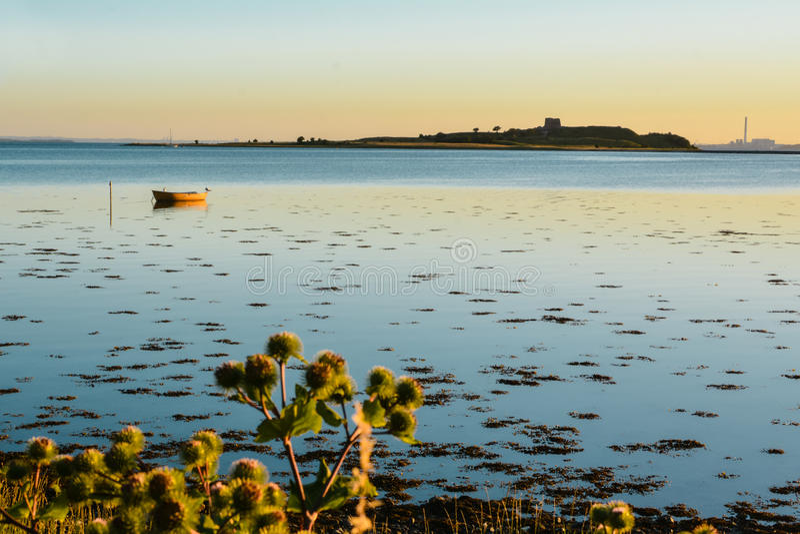 Evening calm, Aarhus Bay, Denmark royalty free stock image