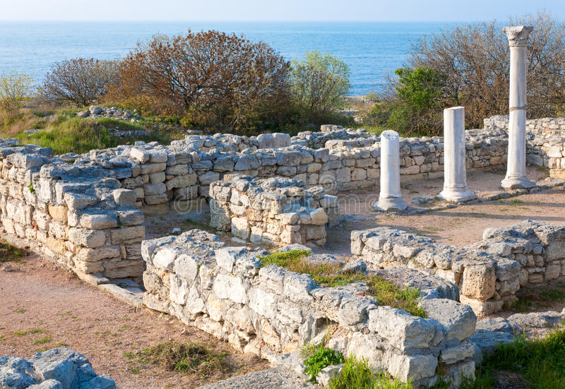 Evening Chersonesos (ancient town) royalty free stock images