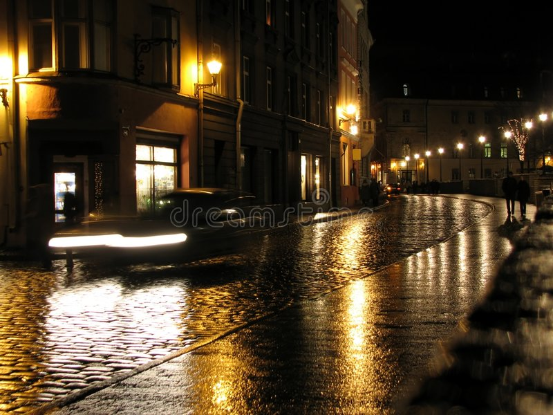 Download Evening in the city stock image. Image of street, hanseatic - 1713021