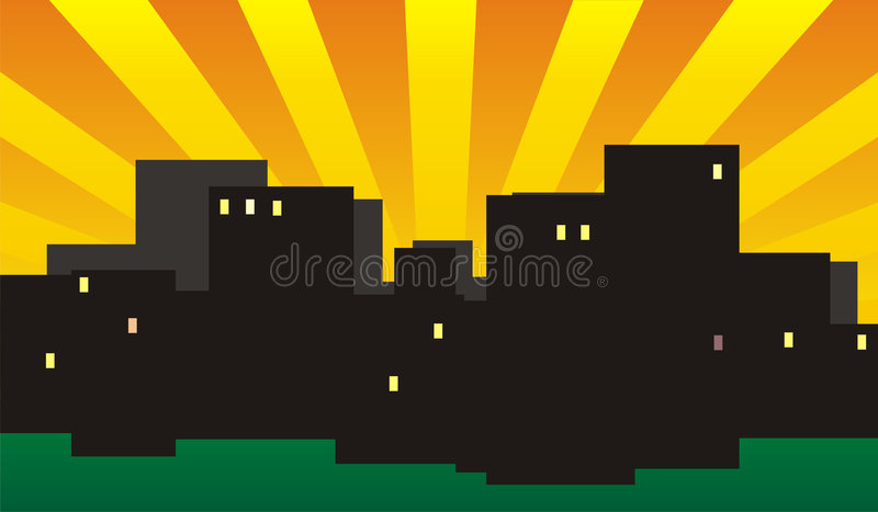 Evening City Stock Image